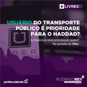 Usuários de transporte público é prioridade para o Haddad?