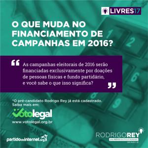 Voto Legal e Financiamento de campanha