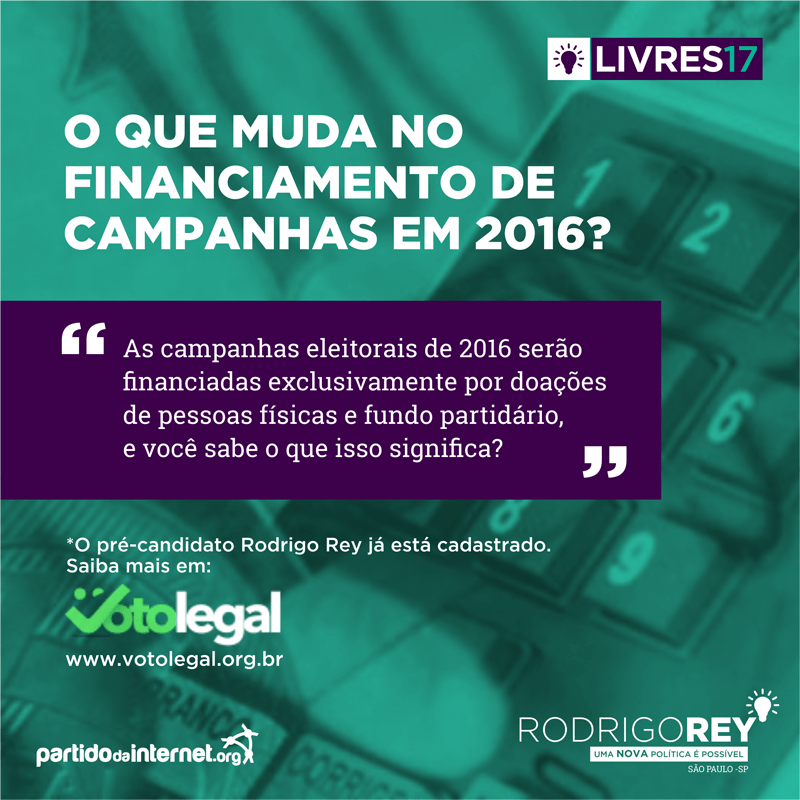 Voto Legal e Financiamento de campanha